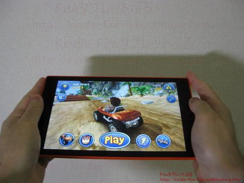 FireHD8タブレットでゲームアプリをプレイ