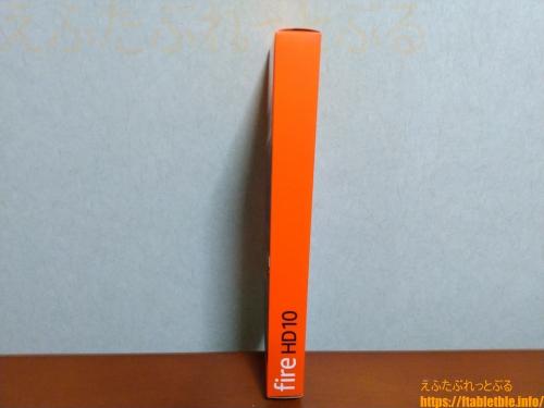 Fire HD 10(2021)外箱の側面