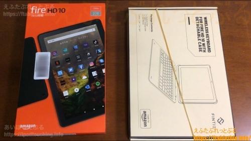 Fire HD 10(2021)とキーボード付きカバーの開封